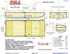 Pod2 free plans, stable, easy to build.