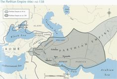 Parthian Empire, 44 BCE to 138 CE. The Parthian Empire (247BCE– 224CE) was a major political and cultural power in ancient Iran. Mithridates I of Parthia (r. c. 171–138 BC) greatly expanded the empire by seizing Media & Mesopotamia from the Seleucids. At its height, the Parthian Empire stretched from the northern reaches of the Euphrates to eastern Iran. The empire, located on the Silk Road trade route between the Roman Empire and Han Empire of China, became a center of trade and commerce.