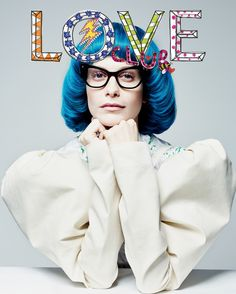 Poppy Delevingne dons blue wig and glasses for LOVE magazine Europe Fashion, Vogue Fashion, Mens Fashion, Style Fashion, Editorial, Love Magazine, Magazine Covers, Chanel Brand, Blue Wig