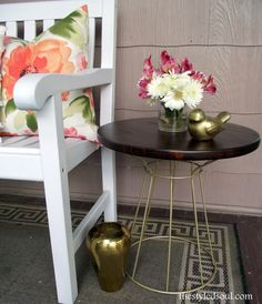 Wood and Metal Accent Table Makeover from The Styled Soul