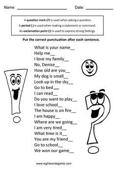 Types of Sentences - Sight Words, Reading, Writing, Spelling & Worksheets 2nd Grade Grammar, 2nd Grade Ela, 3rd Grade Writing, 2nd Grade Classroom, 2nd Grade Reading, Grade 2, Second Grade, Classroom Board, Classroom Tools