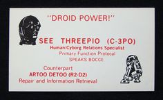 Website of the day! If Star Wars Characters Had Business Cards, They'd Look Like This.