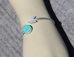Turquoise Arrow Head Cuff,Natural Royston turquoise, arrow head sterling cuff.Boho Style Bracelet, Sterling Silver bracelete by AtThursday on Etsy https://www.etsy.com/listing/214625933/turquoise-arrow-head-cuffnatural-royston