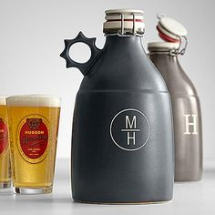 A true beer lover never leaves a favorite brew behind. Make sure their next trip to a local brewery is complete with this clay growler so that perfectly hoppy beer just discovered can also be enjoyed in the comforts of their own home. Keeps carbonated brews cold and crisp for days.