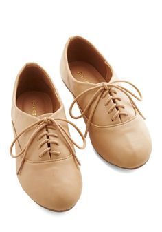 Everyday Adorable Flat in Sand. When your go-to shoe is this pair of sand-brown flats, sweetness becomes the standard. #tan #modcloth