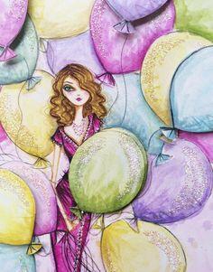 Birthday Balloons, Bella Pilar Studio