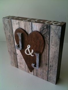 My husband and I follow traditional wedding anniversary gifts. This year it's wood, so I made this... i-actually-make-stuff-i-find-on-pinterest