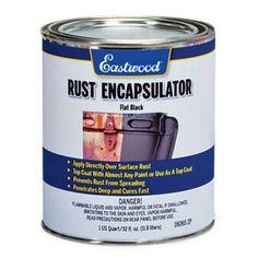 Eastwood Rust Encapsulator Black US Quart Car Rust Repair, Ford Excursion Diesel, Auto Body Work, Rust Prevention, Rust Paint, Custom Chevy Trucks, Engine Repair, Old Classic Cars, Vw Cars