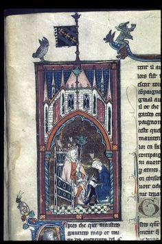 Royal 14 E III TitleEstoire del Saint Graal, La Queste del Saint Graal, Morte Artu OriginFrance, N. (Saint-Omer or Tournai?) Date1st quarter of the 14th century LanguageFrench Folio 140