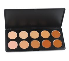 Pure Vie Professional 10 Colors Cream Concealer Camouflage Makeup Palette Contouring Kit -- You can find out more details at the link of the image. (This is an affiliate link) #MakeupFoundationLongLasting