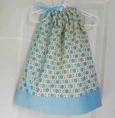 Pillow Case Dress - Light Blue and Cream. $20.95, via Etsy.