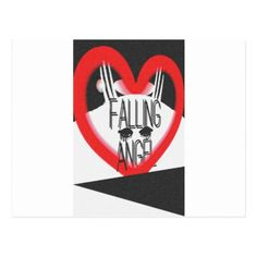 Falling angel typography modern postcard - valentines day gifts gift idea diy customize special couple love