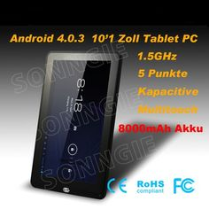 Allwinner A10 Android 4.0 10.1 Zoll 5 Punkte Touch Kapazitive 3G WIFI