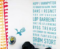 no Wallsticker. Gutteord - Gode ord til gutterommet. Reading, Words, Children, Quotes, Inspiration, Design, Room, Fantasy, Young Children