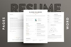 Unique Resume CV   Pages + Word by GoaShape on @creativemarket