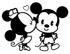 Minnie Kissing Mickey Decal Car Window Decals, Laptop Decals, Custom Stickers, Many sizes and colors. FAST Shipping . www.worksaheart.com