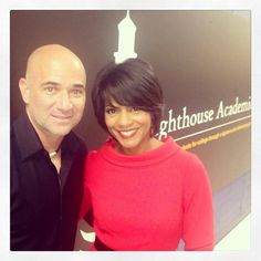 We admire @Andre Agassi 4 his Charter Schools Fund, building new schools n urban communities, Rhonda was with him at the first school built in Detroit today! He wants to provide state of the art new buildings for high achieving schools in urban communities across the country! #makeadifference #helpouryouth