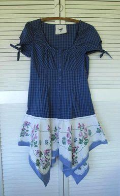 Bohemian dress Eco upcycled clothing by lillienoradrygoods on Etsy,
