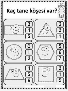 Top 40 Examples for Handmade Paper Events - Everything About Kindergarten Preschool Curriculum, Preschool Math, Preschool Worksheets, Fun Math, Teaching Math, Maths, Shapes Worksheet Kindergarten, Shapes Worksheets, Kindergarten Classroom