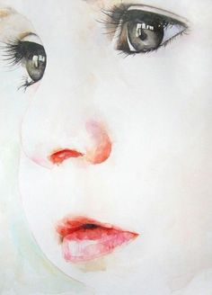 Bedroom Portrait Watercolor painting - with babies and children, it really is what you don't paint that makes the difference. Watercolor Portraits, Watercolor Paintings, Watercolor Landscape, Watercolours, Watercolor Artists, Watercolor Bird, Abstract Paintings, Watercolor Pictures, Abstract Drawings