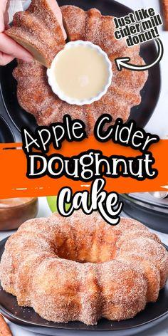 Mini Desserts, Fall Desserts, Just Desserts, Delicious Desserts, Yummy Food, Apple Recipes, Fall Recipes, Doughnut Cake, Brownie