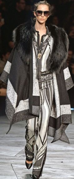 Roberto Cavalli, Fur Coat, Jackets, Fashion, Walkway, Style, Down Jackets, Moda, Fashion Styles