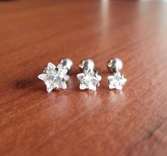 FREE SHIPPING Set of 3 Crystal Star Triple helix by BloodLotus