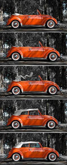 Volkswagen Fusca 1962, totalmente remodelado e conversivel. Quer mais que isso?  Adorova passiar com essa coisinha na minha cidade, e antes de sair, fiz essa sessão, que meu pai pediu tanto pra ser feita, aliás, o carro é dele.  --  Bug 1982, remodeled and convertible. Doesn't get any better than this.