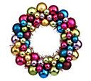 "12"" Colored Ball Wreath by Vickerman - H354451 — QVC.com"