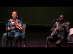 She fiddles as well as sings: Rhiannon Giddens of the Carolina Chocolate Drops - Jackson [HD]  So good!