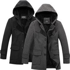 Пальто с капюшоном мужское купить