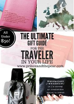 This guide is perfect for the wanderlust, jetsetter in your life. These gifts for travelers are unique, one-of-a-kind and are all under $50!