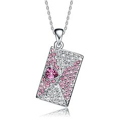Christmas Gifts Deals NEEMODA Pink Heart Crystal Pendant Necklace for Women White Gold Plated Love Letter Fashion Jewelry. Specifications: 1.Chain Length: 15.75 inches + 2 inches. Pendant Height: 1.45 inches. Pendant Width: 0.94 inches.   2.Weight: 0.5 ounces.   3. Main Stone: AAA Cubic Zirconia. Stone Color: Purple, Clear/Transparent. Stone Shape: Heart, Round.   4.Metal Type: Eco-friendly White Gold Plated.   5. Craftsmanship: Triple-layer vacuum furnace plating, Microscopic Inlay. This…