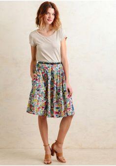 Village Printed Midi Skirt By Yumi | Modern Vintage New Arrivals | Ruche