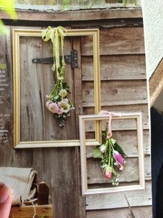 Framed cut flowers