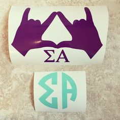 How and where do I get these!!! I absolutely love and want them for different things.  Sigma alpha decals