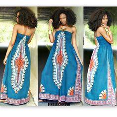 "The MAHLIA DASHIKI Dress in ""RAINFOREST"" paired with the KINKY KURL OUT Unit! Get them both at FINGERCOMBER.COM! #fingercomber #fingercomberhair #fingercomberunit #kinkykurlout #kinkykurloutunit #dashiki #dashikidress #mahliadashiki #ankara"
