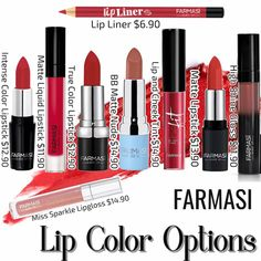 Tint Lipstick, Lip Tint, Lipstick Colors, Lip Colors, Liquid Lipstick, Farmasi Cosmetics, Makeup Routine, Body Butter, Beauty Care