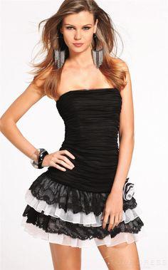 Fabulous Sweetheart Ruffles Homecoming Dress