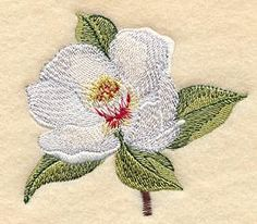 Machine Embroidery Designs at Embroidery Library! - All State Flowers - Magnolia