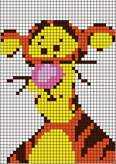 Tigger Graph to possibly be used to make a C2C Afghan