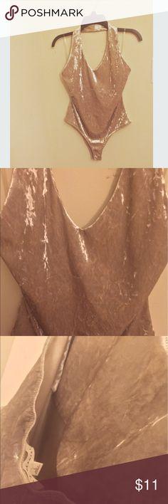 LA Hearts Bodysuit NWT ⛱ Velvet & metallic body suit! No bra needed. Like new! Only worn once. La Hearts Tops