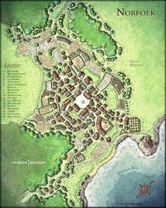Fantasy City Map, Fantasy World Map, Fantasy House, Village Map, Medieval, Map Pictures, Dungeon Maps, Dungeons And Dragons Homebrew, Marvel Comics Art
