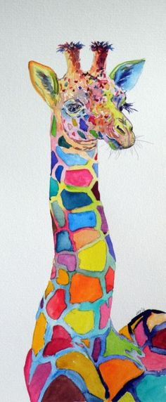 ARTFINDER: Giraffe by Kovács Anna Brigitta - Original watercolour painting on high quality watercolour paper. I love landscapes, still life, nature and wildlife, lights and shadows, colorful sight. Thes...