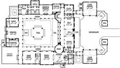 Planes de construcción de estilo georgiano - 7340 pies cuadrados de construcción Home, de 2 pisos, 5 dormitorios y 5 3 Baños, 4 Garaje puestos por planes de vivienda del monstruo - Plan de 95-107
