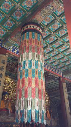 Interior of the Lama temple: Beijing, China