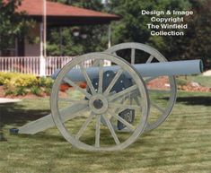Civil War Cannon Woodworking Plan It sure looks like a real civil war cannon. #diy #woodcraftpatterns