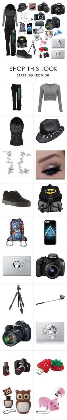 """Filming CMV's"" by livyv123 ❤ liked on Polyvore featuring BERRICLE, Heelys, Hot Topic, Disney, Music Notes, Starter, Eos, Manfrotto, Polaroid and Vinyl Revolution"