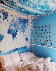 Dream Rooms Aesthetic Blue - Decoration Home Cute Bedroom Ideas, Cute Room Decor, Room Ideas Bedroom, Teen Room Decor, Bedroom Themes, Bedroom Decor, Bedroom Girls, Blue Bedroom Ideas For Girls, Beach Room Decor