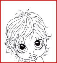 haar Adult Coloring Book Pages, Coloring Pages For Girls, Colouring Pages, Coloring Books, Copics, Prismacolor, Black And White Design, Digi Stamps, Drawing For Kids